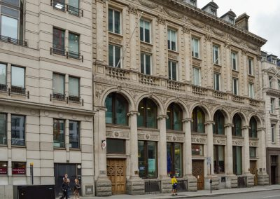 London Bank conservation historic stonework